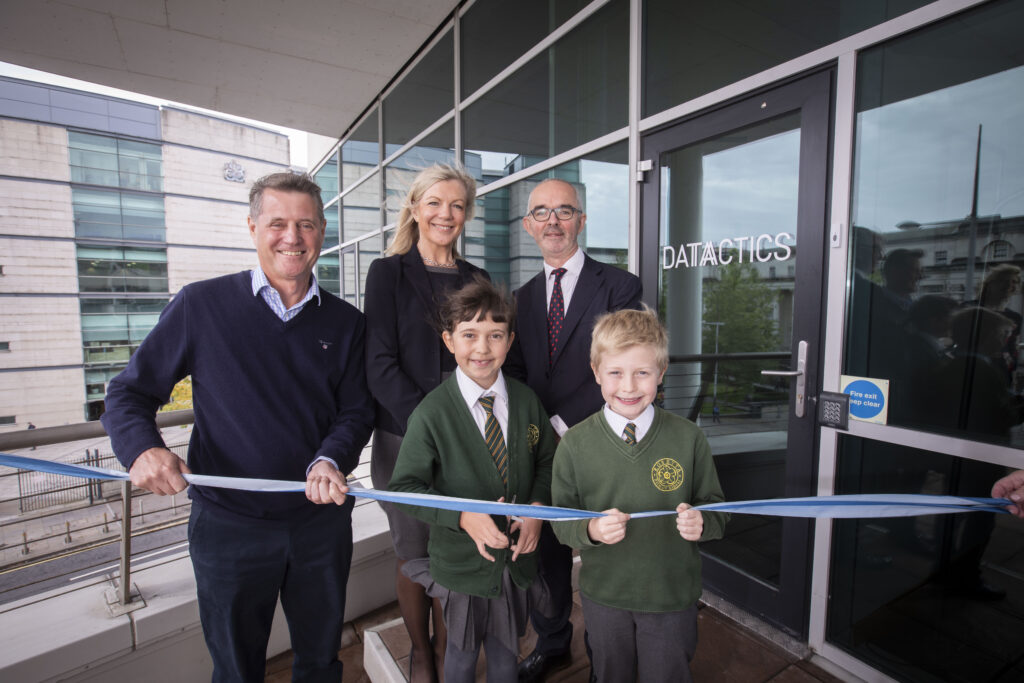 Mick Foster, Suzanne Wylie, Stuart Harvey open new Datactics office