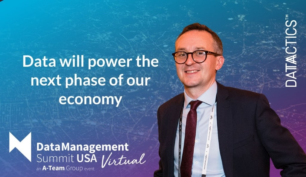 Data will power the next phase of our economy, data management summit usa vitual, Kieran Seaward, head of sales, a data driven restart.