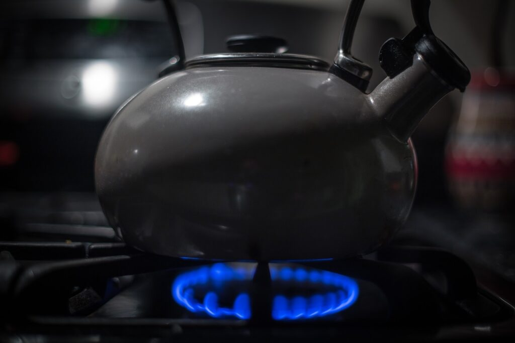 kettle, stove, heating