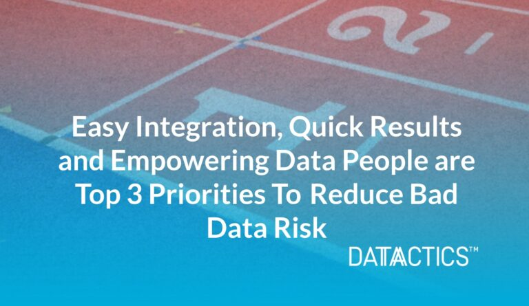 Easy Integration, quick results and empowering data people