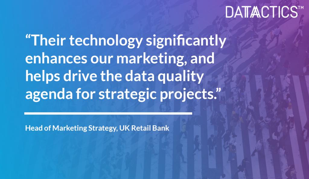 Retail Bank Datactics Customer Success Quote