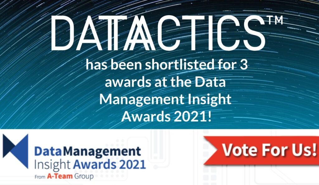 3 nominations for the Data Management Insight Awards 2021